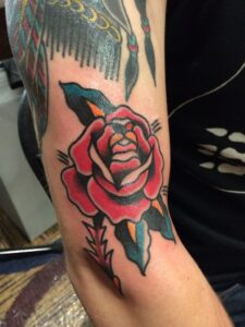rose-arm-traditional-tattoo