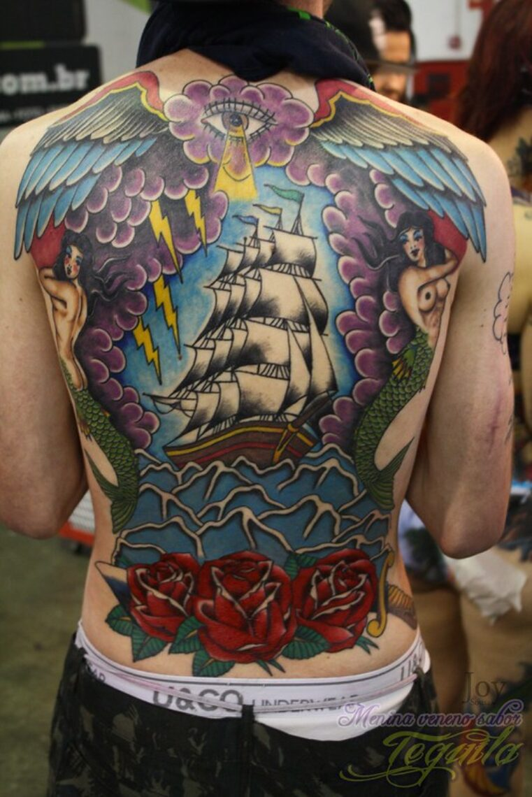 large back tattoo