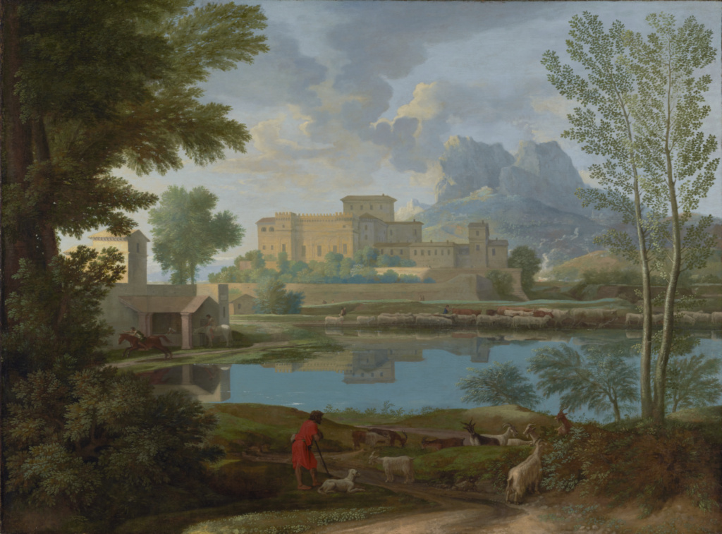 painting-of-villa-reflected-in-pond
